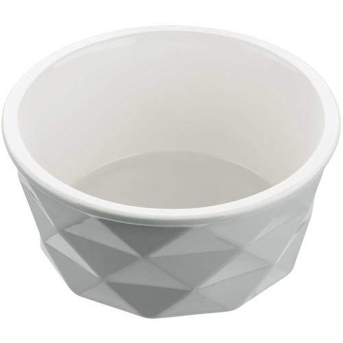 HUNTER EIBY Keramik-Napf, Futter- und Trinknapf, rutschhemmend, 1900 ml, grau