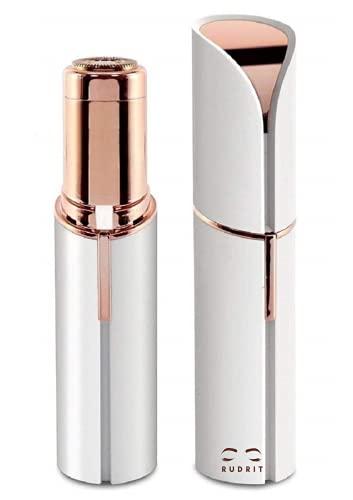 Rudrit Skincare Women's Face Hair Remover Machine for Upper Lip, Chin, Eyebrow – White