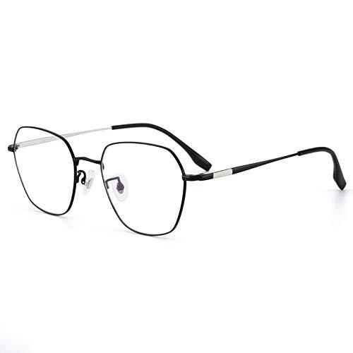N-a T-ara Retro Reintitan Optische Brillengestell Ultra Titanium Brillengestell for Männer und Frauen Trending Blue Hellbrille, leicht zu tragen, Computerbrille hohe Qualität (Color : Black)