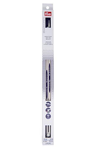 Prym Ergonomics 14-Inch Single-Point Knitting Needle, Size 10 (2-Pack)