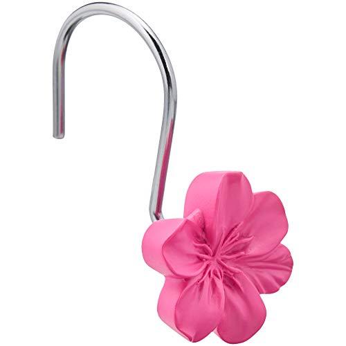 Amazon Basics – Haken für Duschvorhang, Blume, rosa