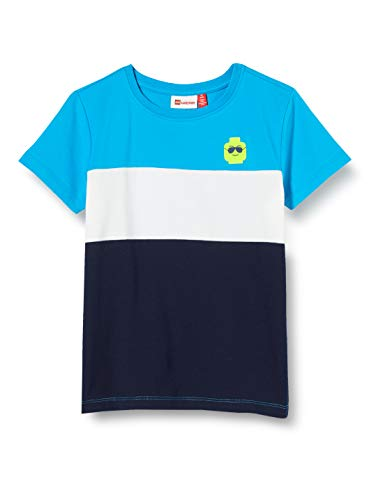 Lego Wear Lwtobias T-Shirt, Multicolore (Light Blue 532), 116 Bambino