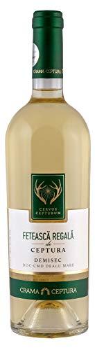 Crama Ceptura   CERVUS CEPTURUM Feteasca Regala – Weißwein halbtrocken aus Rumänien   0.75 L DOC-CMD