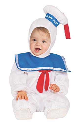 Rubie's Baby Ghostbusters Ez-On Stay Puft Romper, White, 4T