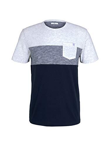 Tom Tailor 1021256 Pocket Camiseta, 11077-Weißes Blanc, XXXL para Hombre