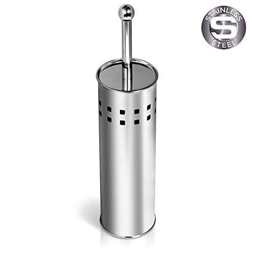 Tatkraft SHUTTLE Toiletborstel Met RVS Houder Set - Vrijstaand - Toilet Brush Holder - Toiletborstelset - WC-Borstel Met Borstelhouder Staand