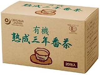 オーサワ  有機熟成三年番茶(ティーバッグ) 36g(1.8g×20包)  8パック