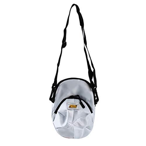 Sperrins Hutform Segeltuchtasche Mini Niedliche Umhängetasche Für Jungen Mädchen, Weiß