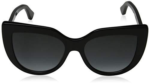 Fashion Shopping Gucci sunglasses (GG-0164-S 001) Shiny Black – Grey Gradient lenses, 53-18-145