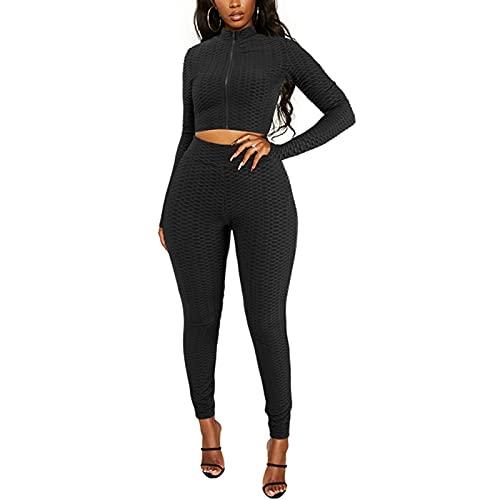 2 piezas de ropa sexy para mujer con cintura alta y elástico para gimnasio y gimnasio