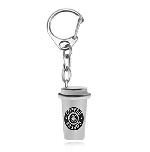jiangyanyiliao Unisex Kaffeetasse Schlüsselanhänger Halskette Set Beste Freunde Hip Hop 3D für Frauen Männer Kinder,Schlüsselanhänger anhänger~POS=HEADCOMP