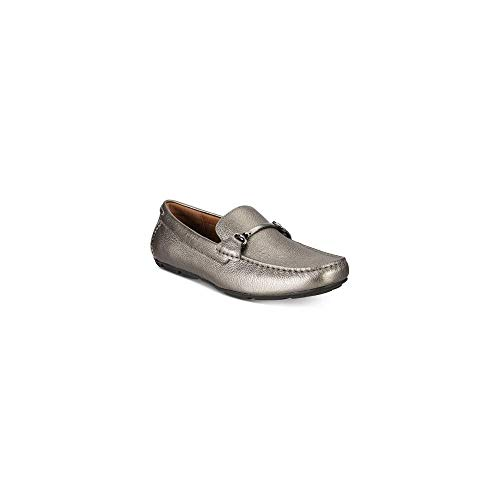 Alfani Mens Marcus Leather Square Toe Penny Loafer, Pewter, Size 10.0