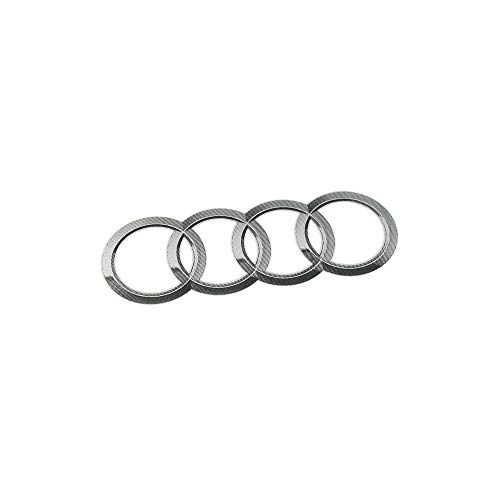 Audi 8R0060306 ringen embleem logo sticker sticker kenteken 95x56mm