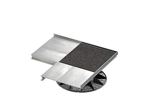 Ensemble de Porte-Garniture de Bordure en Aluminium 175 x 240 mm POSITIONNEMENT d'angle À L'EXTÉRIEUR pour Un Rangement Haut de Gamme avec vis
