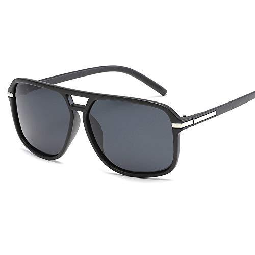 Gafas De Sol para Hombre Y Mujer Moda Anti-Ultravioleta Polarizadas Gafas ProteccióN para ConduccióN Gafas De Deportes Al Aire Libre De Pesca De Moda Regalo de San Valentín (Color : Matte Black)