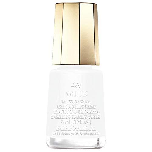 Nail Lacquer # 49 - White by Mavala for Women - 0.17 oz Nail Polish