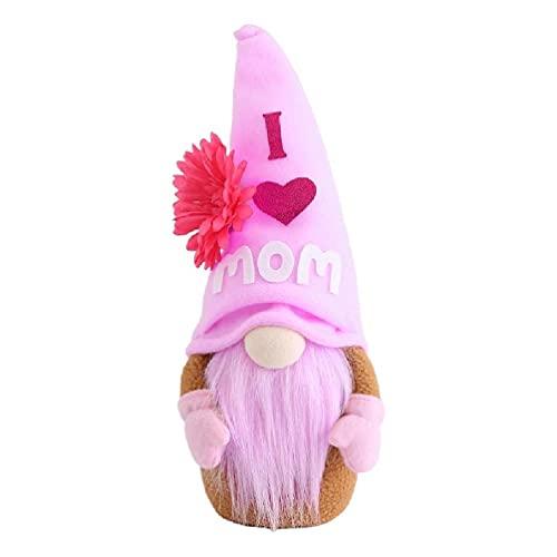 Gnomo del da de la madre con el amor de la madre, flor de Tomte, nisse sueco escandinavo elfo enano, granja de la decoracin de la cocina gnomos felpa grande