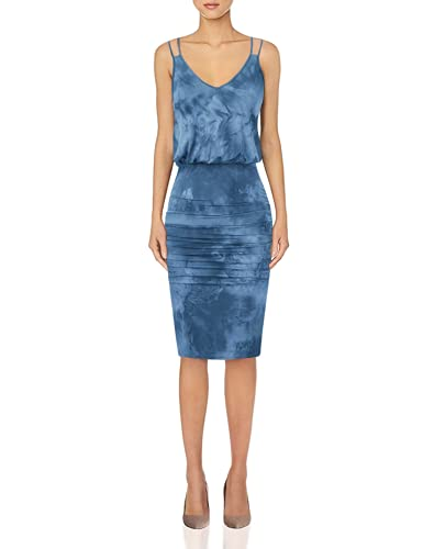 GRACE KARIN Women's Sleeveless V-Neck Elastic Waist Casual Bodycon Beach Dress Royal Blue M