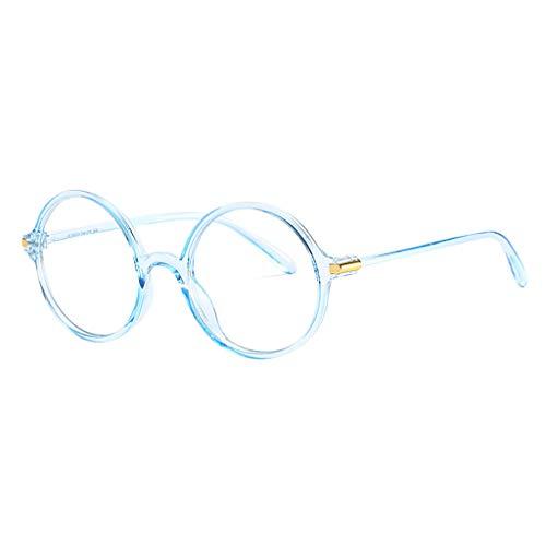 FRAUIT Damen Herren Blaulicht Brille Metall Frame Runde Brille Retro Metall Klare Linse Brille Vintage Klassisches Glasses Klare Linse Brille, Unisex UV Schutzbrille