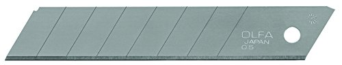 Olfa LB-10 Cuchilla cutter troceable 100x18mm, Negro, Set de 10 Piezas