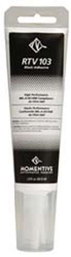 Momentive RTV103 One Part Silicone Sealant, 2.8 Ounce Tube, Black