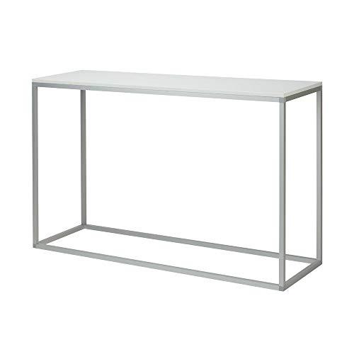 VKF Renzel Deko-Tisch klein / 1.300 x 816 x 400 mm (BxHxT) Konsolentisch/rechtekig/mit Holzplatte/stabiles Aluminium-Kunststoff-Gestell