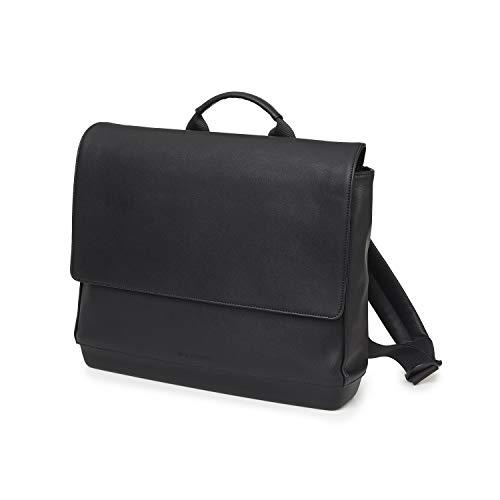 Moleskine - Mochila para portátil de hasta 13 pulgadas, horizontal, mochila para ordenador, mochila para hombres y mujeres, tamaño 30 x 35 x 11 cm, color negro