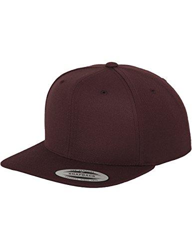 Flexfit Classic Snapback Cap, Mütze Unisex Kappe für Damen und Herren, One Size, Farbe maroon