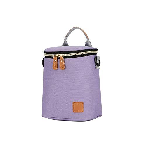 DYTJ-Bags Lebensmittel-Versandtasche Wärmeisolierter Mode Tragbare Lunchbox Tasche Isolierung Tasche Lunchbag Milchtasche Wasserdicht Picknick-Rucksack (Farbe: Blau), Pink