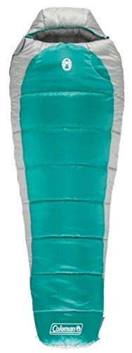 Coleman Silverton 0 Regular Mummy Sleeping Bag, Green/Gray 2000018102