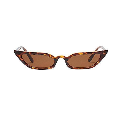 Storerine Frauen Vintage Cat Eye Sonnenbrillen Retro Kleiner Rahmen UV400 Eyewear Fashion Ladies # 97570 kleine Box Katzenaugen Damen Sonnenbrille Brille