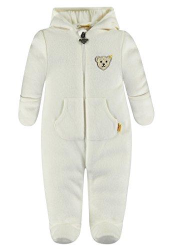 Steiff Baby-Mädchen Overall 1/1 Arm Fleece Schneeanzug, Weiß (Whisper White White 1100), 68