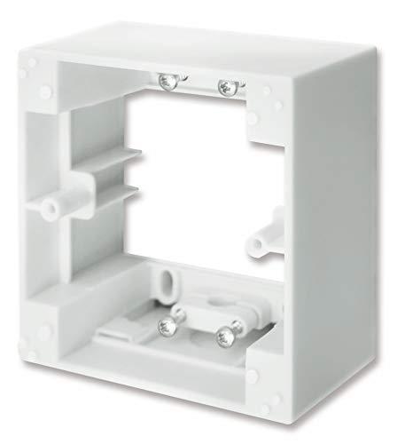 Schellenberg 20003 Aufputzrahmen für Zeitschaltuhren STANDARD und PLUS, ideal für Wechselrahmenadapter mit Ausschnitt 50 x 50 mm – Weiß