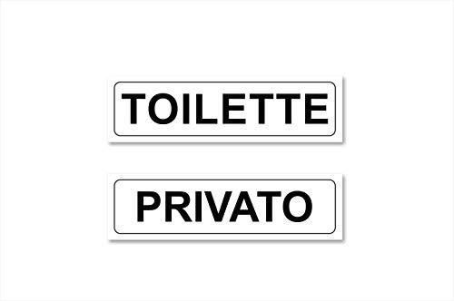 Readyprint Targhette Adesive Scritta Toilette - Privato, 2 pz.