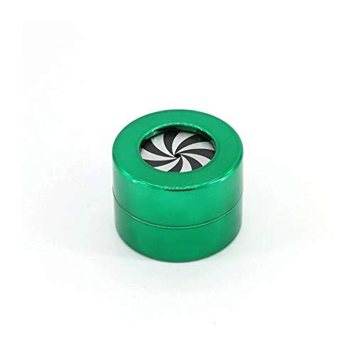 LANGQG Mini Almacenamiento Frasco del envase joyería Accesorios baratija de Vuelta joyería Caja con Tapa for joyería como Anillos Pulseras Collares Pendientes 2pcs (Color : Green)