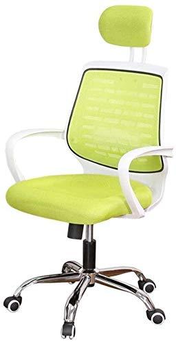 BeingHD Qualitätsbürostuhl, Bürostuhl mit Armlehne Ergonomischer Bürostuhl Armlehne und lumbäre Unterstützung High Back Mesh Chair Reclinable Computer Schreibtischstuhl (Color : Green)