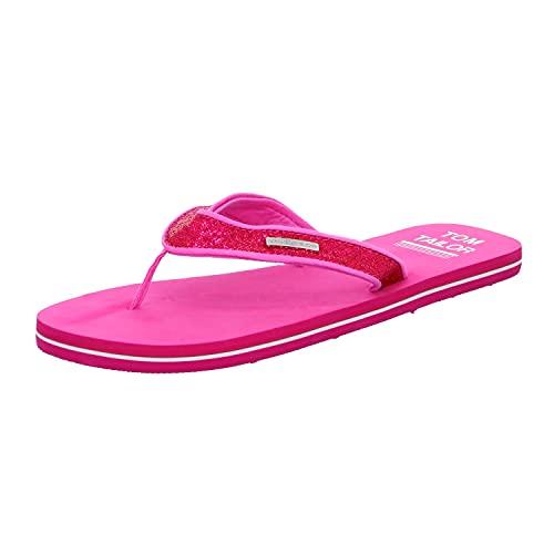 Tom Tailor Damen 1194601 Flipflop, pink, 39 EU