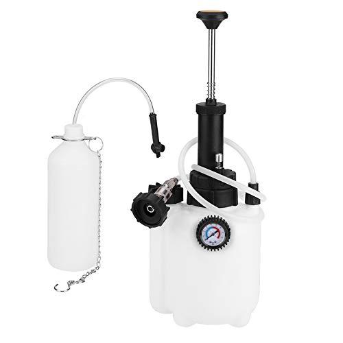 Qiilu Purgado de líquido de embrague y freno 3L Purgador de frenos manual Herramienta de Reemplazo de Líquido de Freno para Uso Doméstico