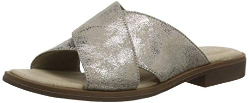 Clarks Declan Ivy sandały damskie, srebrny - Silber Pewter Metallic Pewter Metallic - 38 EU