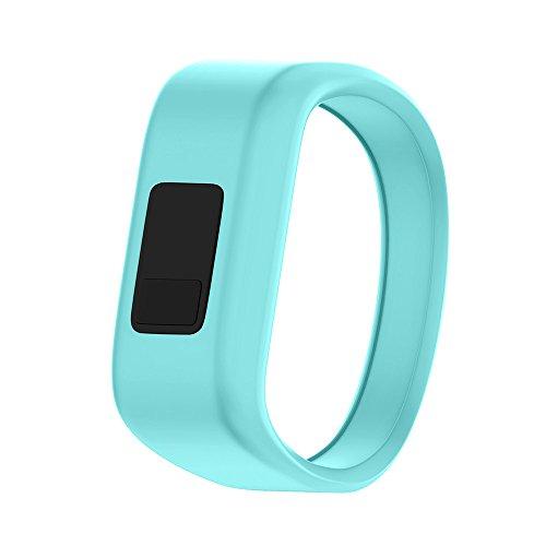 ANCOOL Compatible with Vivofit JR Bands, Soft Kids Wristbands Replacement for Vivofit JR/Vivofit JR2/Vivofit 3 Tracker (Mint, Small)