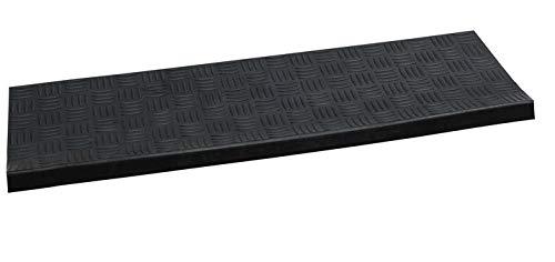 Stufenmatten Gummi Fußmatte Matte 25x75 cm Treppenmatte Antirutschmatten Riffelprofil (5 Stück)