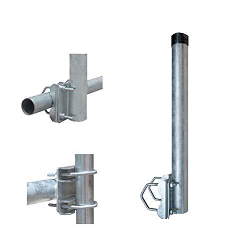 PremiumX Balkon-Halter 80cm Ø 48mm Stahl Mast Geländer-Halterung für Satelliten-Schüssel SAT-Antenne Satelliten-Anlage Sat-Spiegel Ausleger - auch nutzbar als Mastaufsatz Mast-Verlängerung