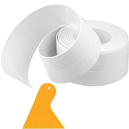 1 Stück Wasserdichter Dichtung Streifen Dichtung Streifen Flexibles Selbstklebendes Dichtungsband mit Dichtung Werkzeug für Küche Bad Badewanne Dusche Boden Wand Kanten Schutz