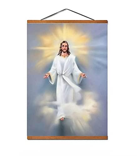 Jesus Christus Onze Retter Poster Decor Schilderij Canvas Muurkunst Woonkamer Poster Slaapkamer Schilderij 50x70cm Lijst