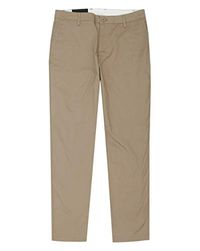 Armani Exchange A|X Herren Basic Stretch Dobby Chino Hose, Business/Leger, Fallen Rock, 48 kurz