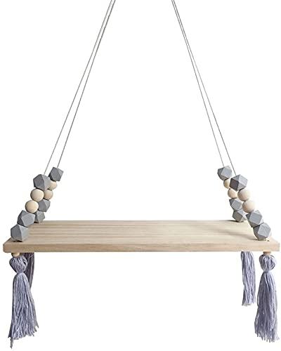 Nordic Display Wall Hanging Shelf Swing Rope Floating Hyllor med Rope String Hem Dekorativ