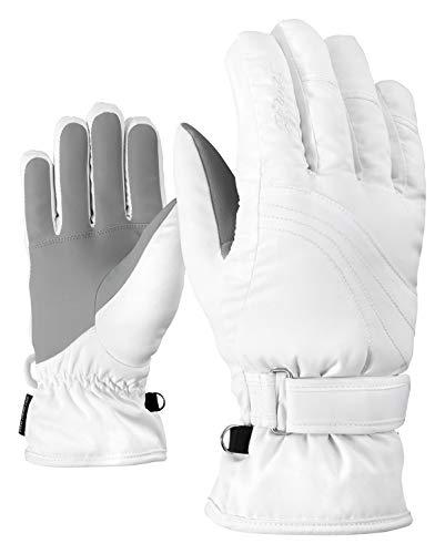 Ziener Damen KONNY AS lady glove Ski-handschuhe / Wintersport | wasserdicht, atmungsaktiv, weiß (white), 8