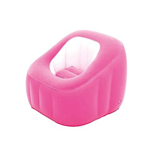 YWSZJ Inflable sofá Perezoso, multifunción portátil Plegable Silla de Flocado se Puede Utilizar en Interiores y Exteriores (Color : Pink)