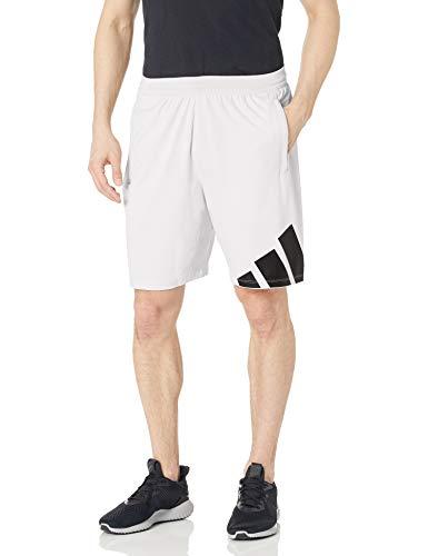 adidas,Mens,4K 3 Bar Shorts,White,X-Small