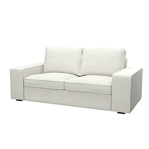 Soferia - IKEA KIVIK Funda para sofá de 2 plazas, Elegance Ecru